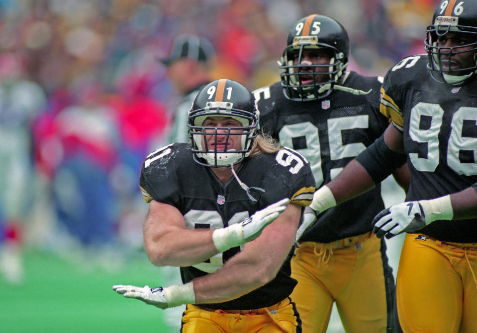 One of the most feared linebackers of his generation, Kevin Greene defied his status as a fifth-round draft pick, piling up sacks and earning a spot in the Hall of Fame. For 15 years, Greene terrorized quarterbacks while playing for the Rams, Steelers, Panthers and 49ers. He was an All-Pro twice and picked to play in five Pro Bowls. His 160 sacks are the third-most in NFL history. Greene was 58.