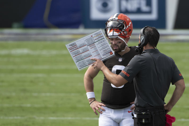 Baker Mayfield's pick-six is further proof of his problems in the pocket