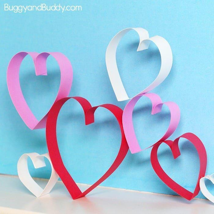"<p>Mere strips of ordinary paper turn into the sweetest heart-shaped Valentine's Day decor in this project. Bonus: It's easy enough for all ages, and doubles as an engineering lesson for kids.</p><p><em><a href=""https://buggyandbuddy.com/paper-heart-engineering-craft/"" rel=""nofollow noopener"" target=""_blank"" data-ylk=""slk:Get the how-to at Buggy and Buddy»"" class=""link rapid-noclick-resp"">Get the how-to at Buggy and Buddy»</a></em><br></p>"