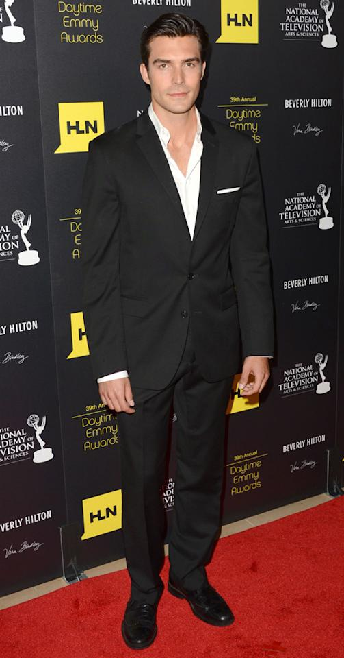 Peter Porte arrives at The 39th Annual Daytime Emmy Awards held at The Beverly Hilton Hotel on June 23, 2012 in Beverly Hills, California.