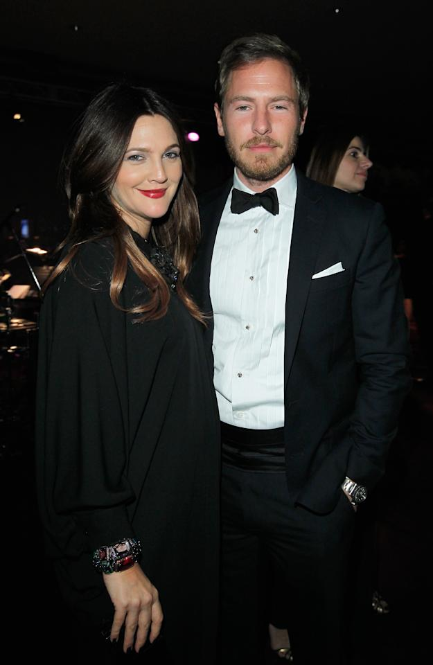 LOS ANGELES, CA - OCTOBER 27:  Actors Drew Barrymore (L) and Will Kopelman attend LACMA 2012 Art   Film Gala Honoring Ed Ruscha and Stanley Kubrick presented by Gucci at LACMA on October 27, 2012 in Los Angeles, California.  (Photo by Donato Sardella/Getty Images for LACMA)