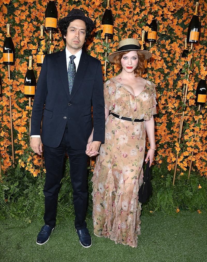 PACIFIC PALISADES, CA - OCTOBER 06: Christina Hendricks, Geoffrey Arend arrives at the 9th Annual Veuve Clicquot Polo Classic Los Angeles at Will Rogers State Historic Park on October 6, 2018 in Pacific Palisades, California. (Photo by Steve Granitz/WireImage)