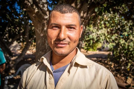 Mohammed, from Egypt, says half the farm hands had to be let go as business was struggling (Bel Trew)