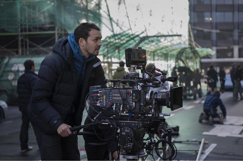 Director Rupert Sanders on the set of Ghost In The Shell