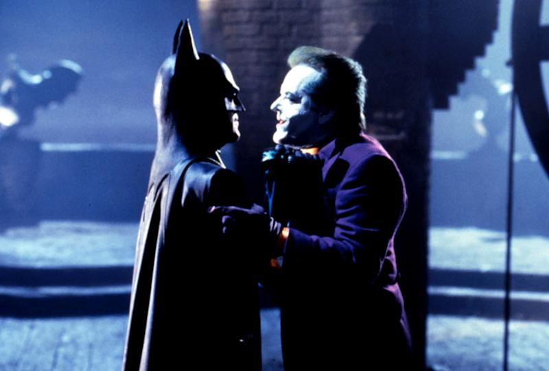 Michael Keaton as Batman and Jack Nicholson as the Joker in Tim Burton's 1989 blockbuster 'Batman' (Photo: Warner Bros./Courtesy Everett Collection)