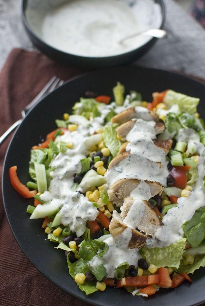 """<div class=""""caption-credit"""">Photo by: Eatin' on the Cheap</div><div class=""""caption-title"""">Southwest Salad with Spicy Cilantro Dressing</div><br><br>Eatin' on the Cheap concocted this salad as a way to use up all those pantry odds and ends, but we think it looks like just the (bright! kicky!) thing that will have us feeling like ourselves again. <br> <br> <b>Recipe: <a href=""""http://eatinonthecheap.com/2013/01/01/a-new-yeara-spicy-salad-and-a-pantry-challenge/#"""" rel=""""nofollow noopener"""" target=""""_blank"""" data-ylk=""""slk:Southwest Salad with Spicy Cilantro Dressing"""" class=""""link rapid-noclick-resp"""">Southwest Salad with Spicy Cilantro Dressing</a></b> <br>"""