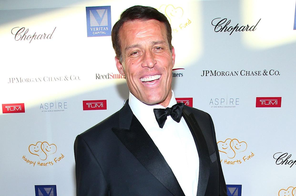 Tony Robbins made a name for himself in the '80s and '90s with a series of self-help books. (Photo: Paul Zimmerman/Getty Images)