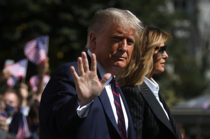 FILE PHOTO: U.S. President Trump and first lady departs for the presidential debate, in Washington