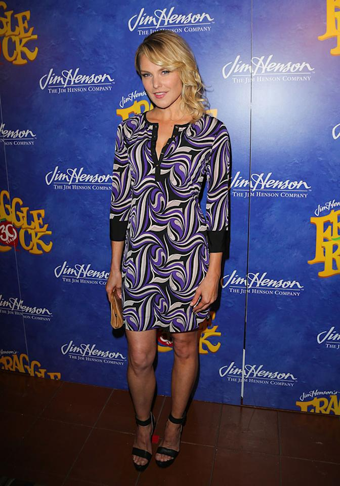 "Laura Allen attends the ""Fraggle Rock"" 30th anniversary party at The Spare Room on April 24, 2013 in Hollywood, California."