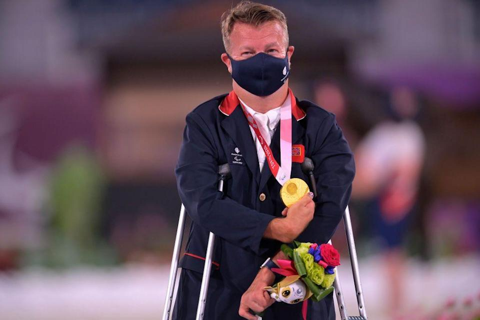 <p>Another gold for equestrian Lee Pearson who won the Para dressage individual Freestyle Grade II event. It's the 14th Paralympic gold medal of Pearson's career and the third he's won at Tokyo this year. <br></p>