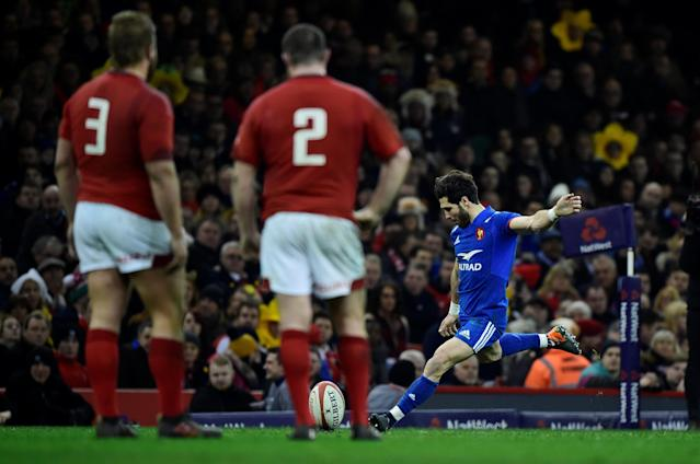 Rugby Union - Six Nations Championship - Wales vs France - Principality Stadium, Cardiff, Britain - March 17, 2018 France's Maxime Machenaud misses a penalty REUTERS/Rebecca Naden