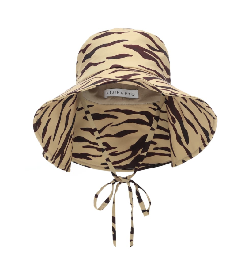 Regina Pyo Daisy tiger-print hat. (PHOTO: MyTheresa)