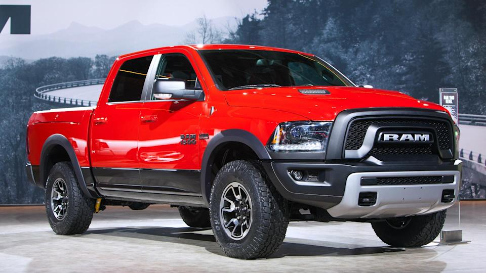 DETROIT - JANUARY 15: A Dodge Ram 1500 pickup truck on display January 15th, 2015 at the 2015 North American International Auto Show in Detroit, Michigan.