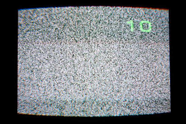 White noise on TV. (Photo courtesy of Hoong Wei Long)