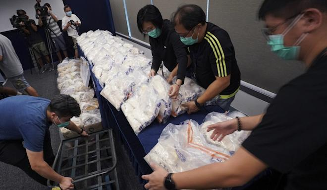 Police say the seizure, the largest of the year so far, involved a transnational drug syndicate. Photo: Felix Wong