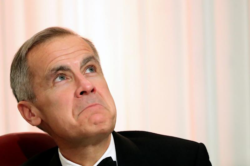 Governor of the Bank of England Mark Carney reacts during the annual Mansion House dinner in London, Britain June 20, 2019. REUTERS/Simon Dawson