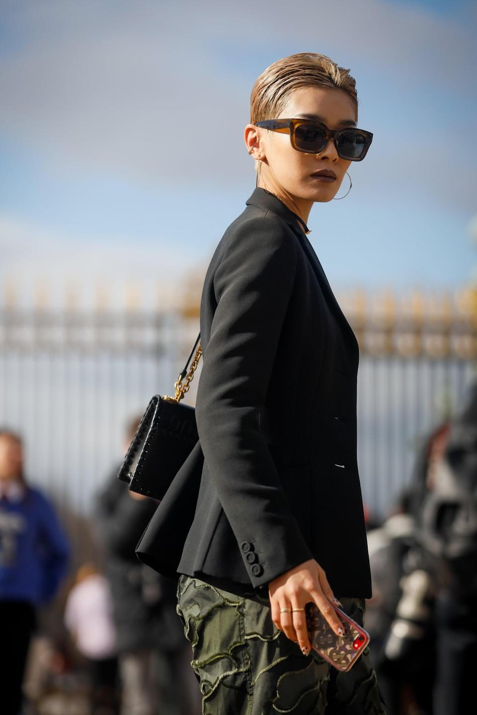"""<p>Pros are also predicting pixie cuts will be everywhere in the new year - specifically of the '60s mod persuasion. The reason: """"Short pixie cuts are easy to style,"""" Cleveland said.</p> <p><a href=""""https://www.instagram.com/tjspeck/?hl=en"""" class=""""link rapid-noclick-resp"""" rel=""""nofollow noopener"""" target=""""_blank"""" data-ylk=""""slk:Travis Speck"""">Travis Speck</a>, a hairstylist at the Sally Hershberger NoMad Salon in NYC, agreed: """"Anytime a client comes in and requests a pixie, I take my inspiration from Mia Farrow's classic pixie cut. Short hair is much more manageable and less high maintenance, but in order to help it grow out, you'll need to schedule routine trims.""""</p>"""