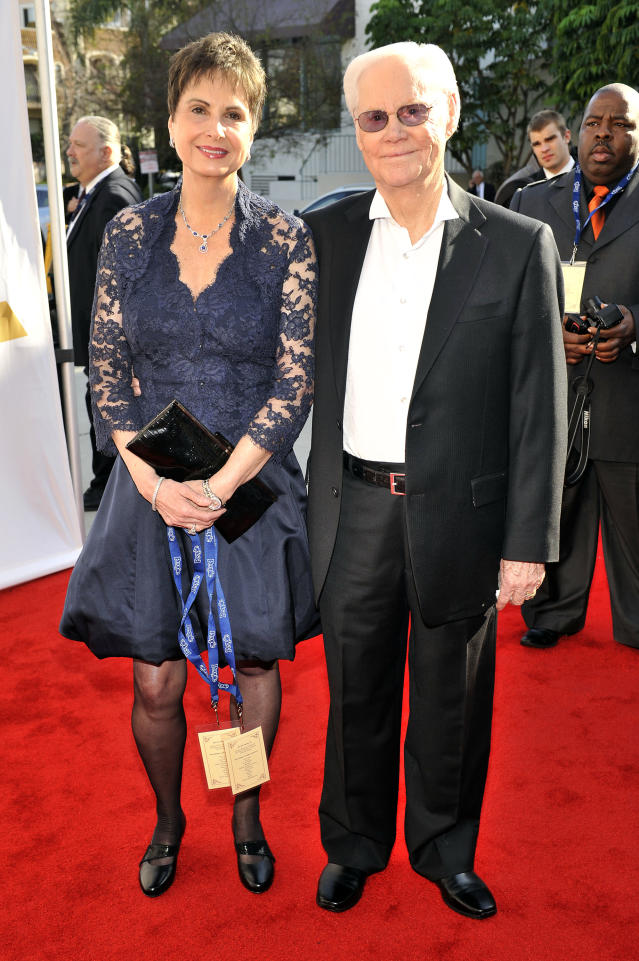 LOS ANGELES, CA - FEBRUARY 11: Nancy and George Jones arrive for the 54th Annual Grammy Special Merit Awards at The Wilshire Ebell Theatre on February 11, 2012 in Los Angeles, California. (Photo by Toby Canham/Getty Images)