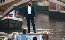 <p>Tom Cruise is seen on the first day of filming in Venice, Italy for the <em>Mission: Impossible 7</em> film on Tuesday.</p>