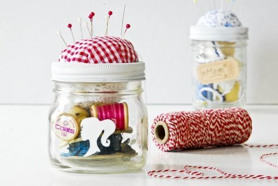 Got a mate who loves to sew? Or know someone who's been saying she'll learn for ages now? Cram a jar with some needles, thread and all the other basics to get her on her way. We love the idea of fixing a pin cushion to the lid, too. Genius. [Photo: Pinterest]