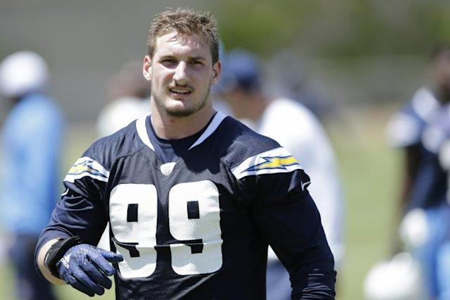 Joey Bosa is standing firm on his contract demands.  (AP)