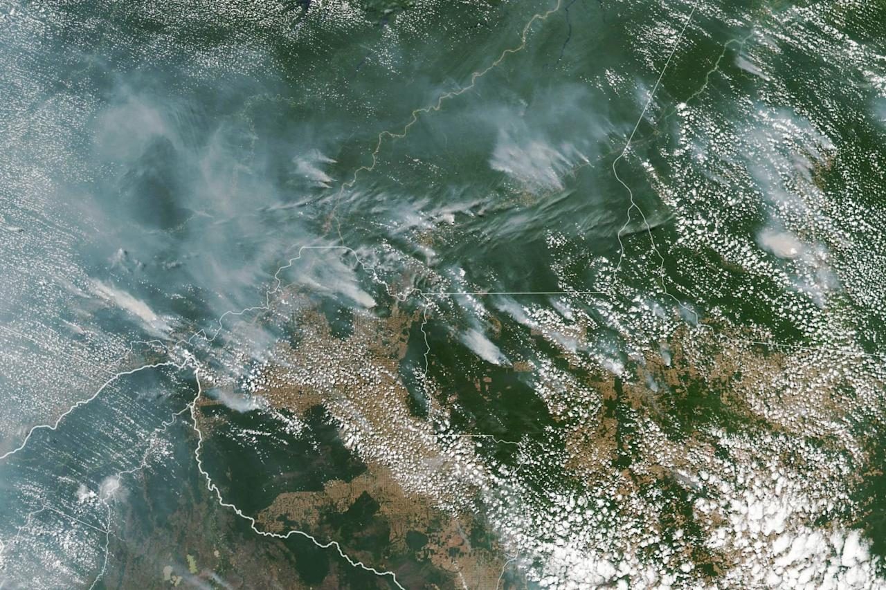 "Fires have been raging at a record rate in Brazil's Amazon rainforest for weeks, threatening wildlife and Earth's oxygen in a disaster that activists say could drive further climate change.  There have been 72,843 fires in Brazil this year (with more than half in its Amazon region), and satellite images have spotted 9,507 new forest fires in the county — mostly in the Amazon basin — since Aug. 15, according <a href=""https://www.cnn.com/2019/08/21/americas/amazon-rainforest-fire-intl-hnk-trnd/index.html"">to CNN</a> and <a href=""https://www.reuters.com/article/us-brazil-environment-wildfires/amazon-burning-brazil-reports-record-forest-fires-idUSKCN1VA1UK"">Reuters</a>, both citing Brazil's National Institute for Space Research (INPE)."