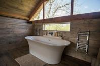 "<p>A romantic wooden lodge sitting on the edge of a stream in a natural Cotswold setting, this Airbnb is a true place to escape. You can relax in the large king-sized bedroom as you take in the views of the surrounding countryside or enjoy a soak in the stunning bath set on a mezzanine floor. Here's a place where you can wake up to the sound of bird song and take a stroll on Bredon Hill.</p><p><strong>Sleeps:</strong> 2</p><p><strong>Price per night: </strong>£260</p><p><a class=""link rapid-noclick-resp"" href=""https://airbnb.pvxt.net/rnQOLB"" rel=""nofollow noopener"" target=""_blank"" data-ylk=""slk:MORE DETAILS"">MORE DETAILS</a></p>"