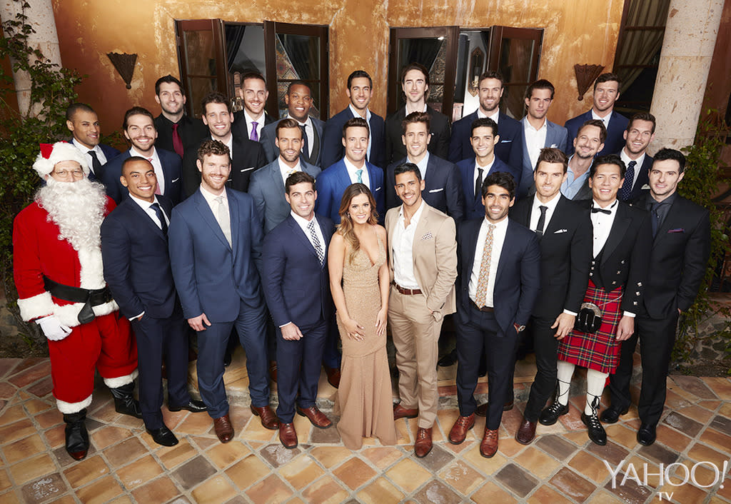 <p>A look at all the men who will try to win JoJo's heart. Our money's on Santa, obviously.</p><p><i>(Craig Sjodin/ABC)</i></p>