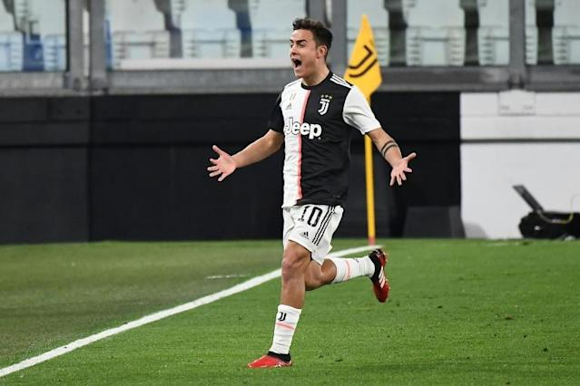Argentine forward Paulo Dybala was one of three Juventus players to test positive for coronavirus (AFP Photo/Vincenzo PINTO )