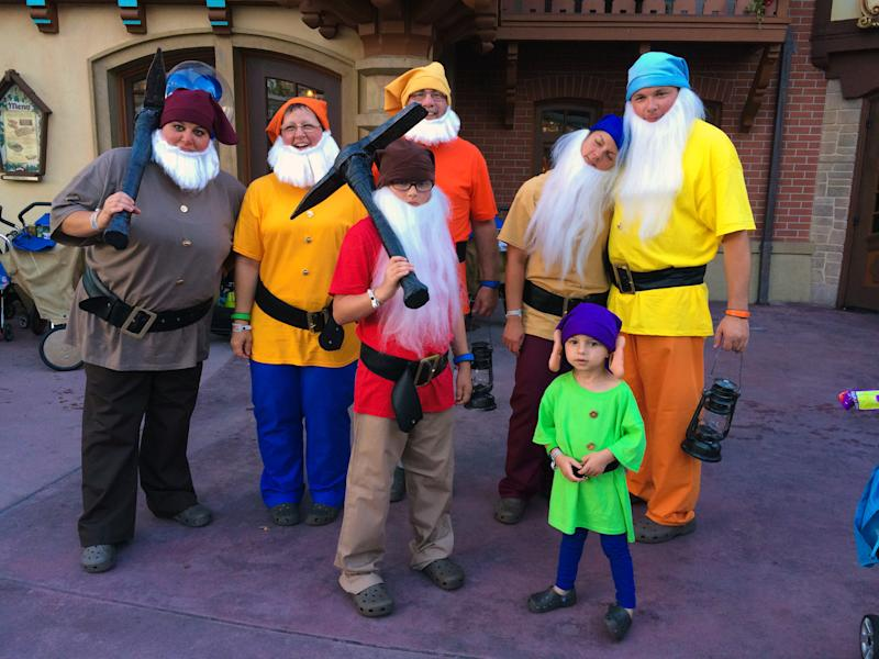 A group of visitors to Mickey's Not So Scary Halloween party are dressed as the Seven Dwarves. (Melissa Hillier/<a href=