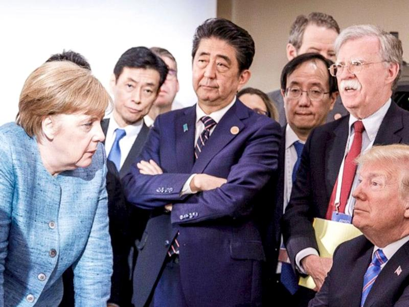 Image result for Angela Merkel , Shinzo Abe, Donald Trump, photos