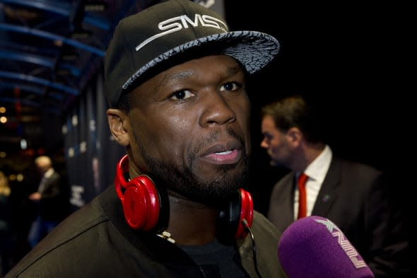 50 Cent Promotes SMS Audio - Amsterdam