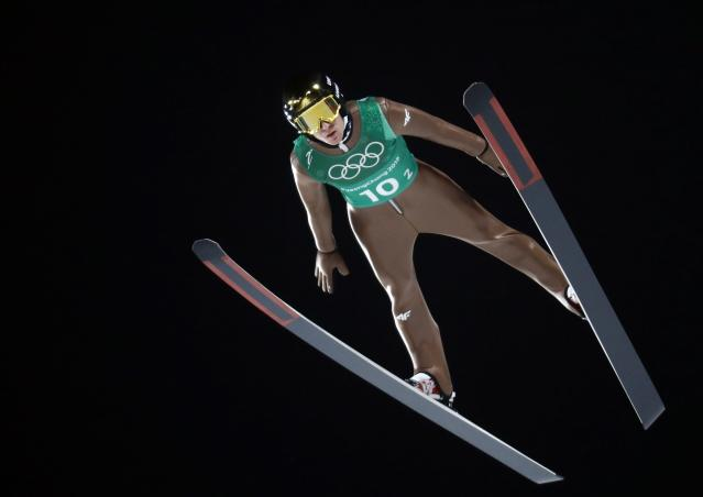 Ski Jumping - Pyeongchang 2018 Winter Olympics - Men's Team Trial round - Alpensia Ski Jumping Centre - Pyeongchang, South Korea - February 19, 2018 - Stefan Hula of Poland competes. REUTERS/Dominic Ebenbichler