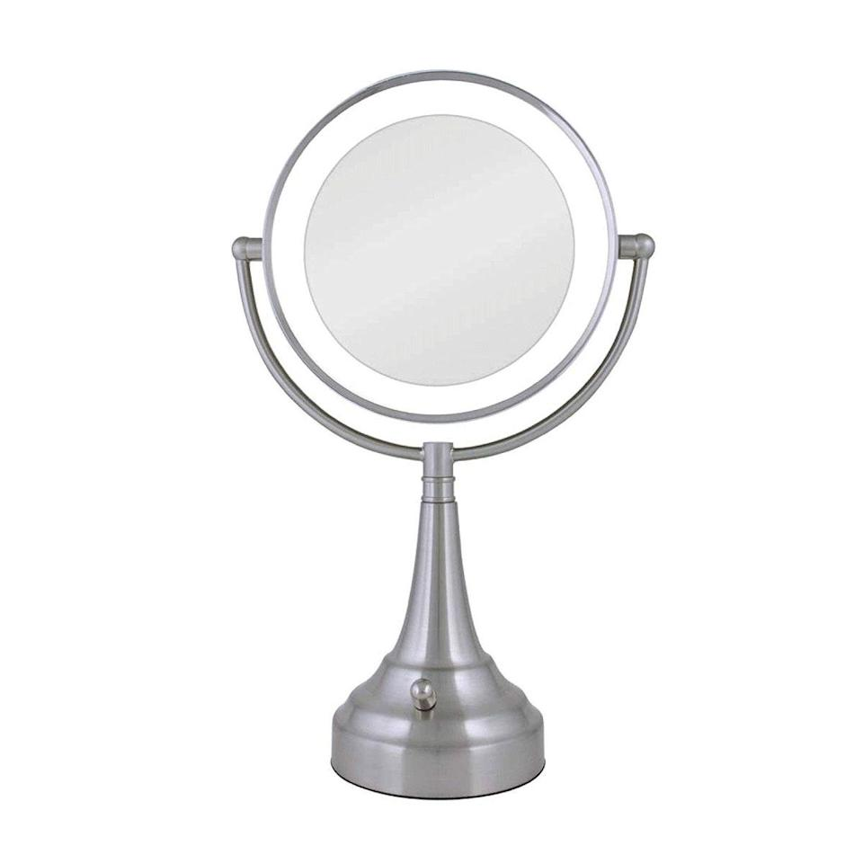 "I've been using a lighted mirror to do my makeup since high school, and I'm at a point where I can't live without one. It may seem extra, but when you live in a shitty one-bedroom with a partner on a different sleep schedule, it makes a world of difference. This one has light that isn't too harsh, so I look natural, and the extra illumination is crucial for getting a sharp cat eye—<a href=""https://www.glamour.com/story/best-eyeliner-stencil?mbid=synd_yahoo_rss"" rel=""nofollow noopener"" target=""_blank"" data-ylk=""slk:my trademark"" class=""link rapid-noclick-resp"">my trademark</a>—every single time. <em>—Bella Cacciatore, beauty associate</em> $120, Amazon. <a href=""https://www.amazon.com/Zadro-Generation-Cordless-Double-11-Inch/dp/B009UX25G0"" rel=""nofollow noopener"" target=""_blank"" data-ylk=""slk:Get it now!"" class=""link rapid-noclick-resp"">Get it now!</a>"