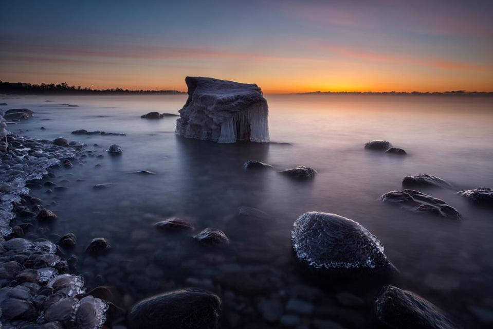 <p>Lake Ontario, the site of Tim's pictures, is 7,300 square miles in size, making it roughly as big as New Jersey (Tim Corbin)</p>