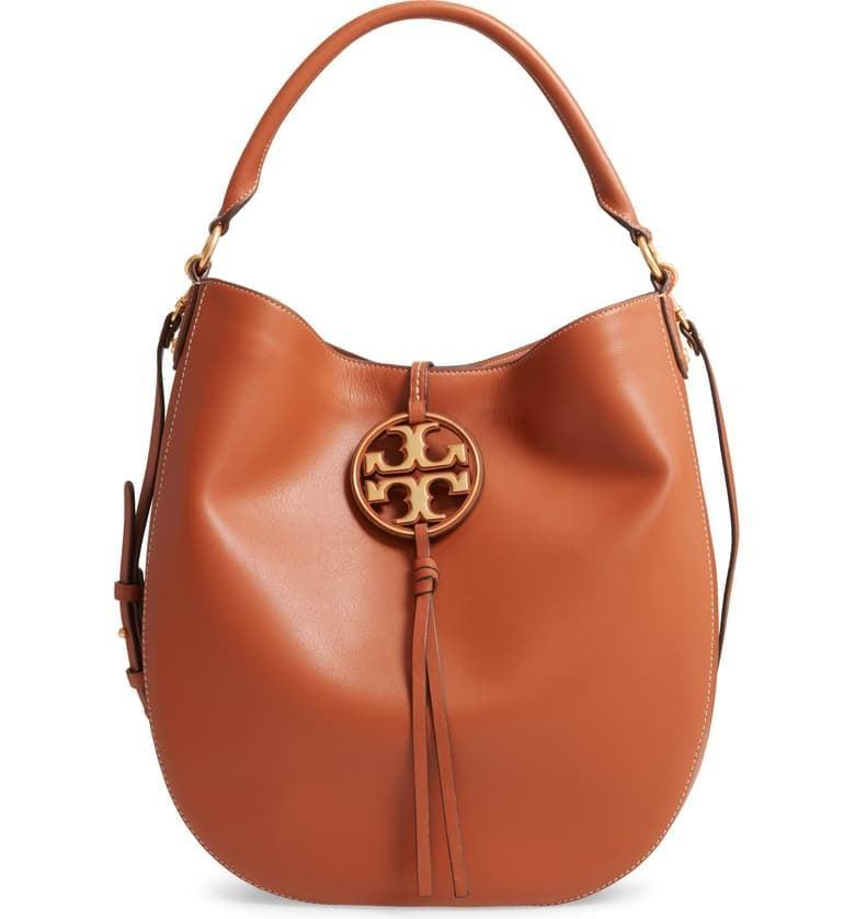 <p><span>Tory Burch Miller Leather Hobo Bag</span> ($290, originally $578)</p>