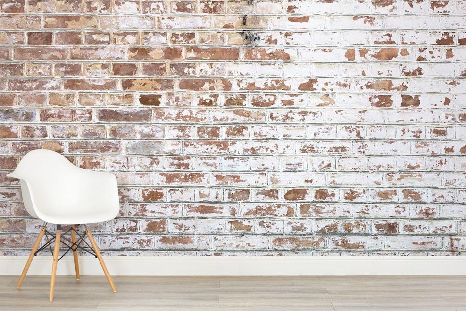 """<p>Fans of the industrial look, take note; the key to Soho loft style is, of course, a bit of brickwork. Injecting texture and warm, terracotta tones to interiors, it's easy to see why exposed brick walls have caught on. Head over to Murals Wallpaper for some wall-to-wall cool.</p><p><strong>Murals Wallpaper</strong> White Paint Bricks Wall Mural, £25 per square metre, available at <a href=""""http://www.muralswallpaper.co.uk/shop-murals/white-paint-bricks-wall-mural/"""" rel=""""nofollow noopener"""" target=""""_blank"""" data-ylk=""""slk:Murals Wallpaper"""" class=""""link rapid-noclick-resp"""">Murals Wallpaper</a></p>"""