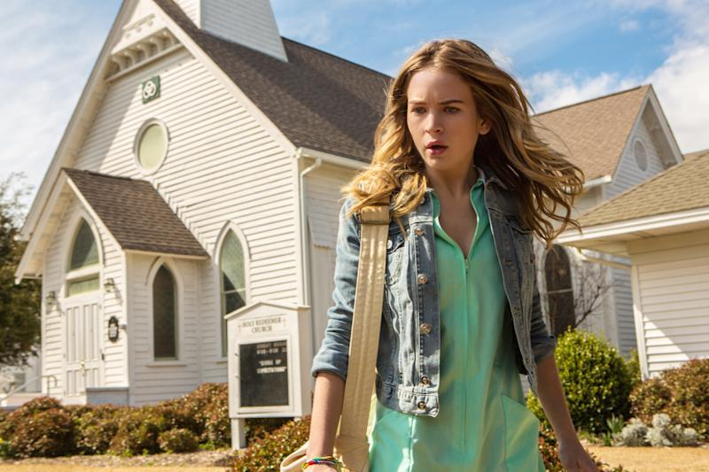 "This undated publicity photo released by CBS Entertainment shows Britt Robertson, as Angie, in a scene from the pilot of the TV series ""Under the Dome,"" premiering Monday, June 24, 2013 at 10:00 EST on the CBS Television Network. The series is based on Stephen King's bestselling novel. (AP Photo/CBS Entertainment, Michael Tackett)"
