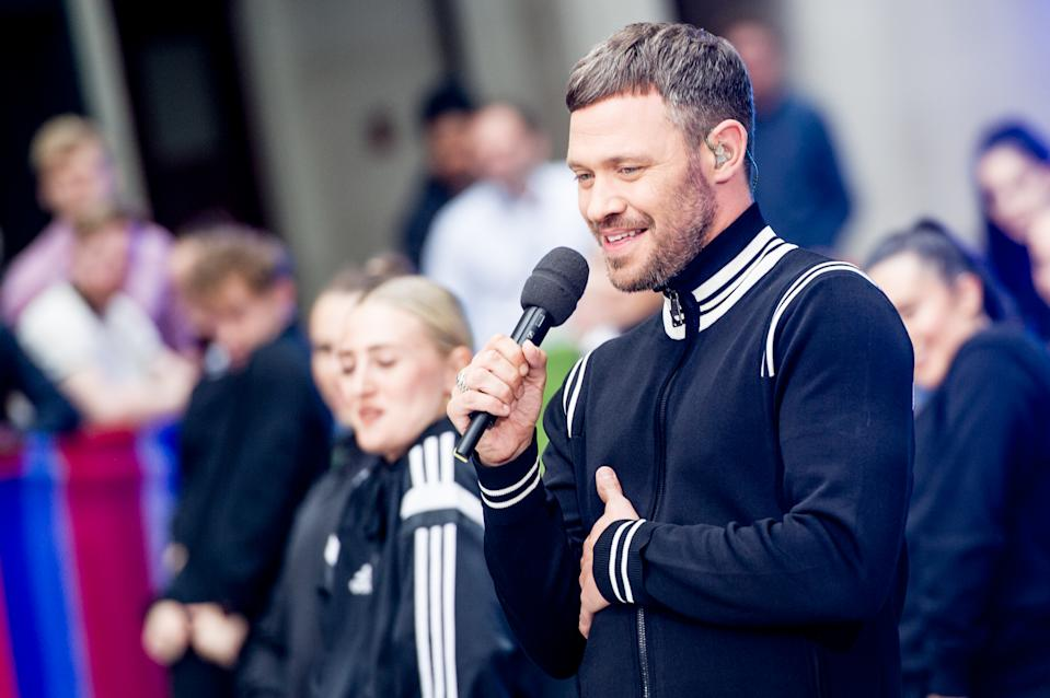 Will Young performs live on the BBCs 'The One Show' on the evening of the launch of his new album 'Lexicon' in the courtyard at BBC Broadcasting House on June 21, 2019 in London, England. (Photo by Ollie Millington/Getty Images)