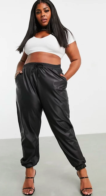 Curve Leather Look Jogger (Photo via ASOS)
