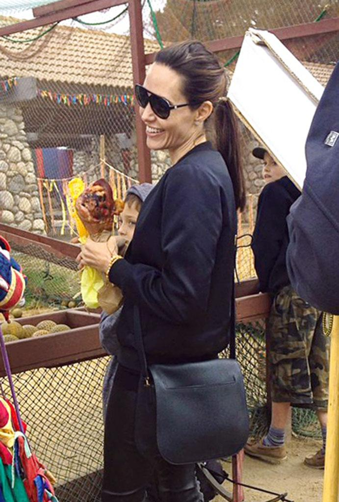 Angelina Jolie visited the Renaissance Pleasure Faire