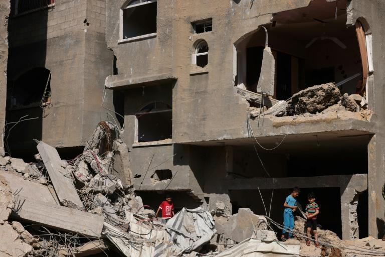 Bombs flattened some buildings and heavily damaged many others in the fiercest Israeli bombing campaign of recent years