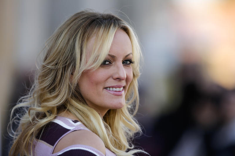 Stormy Daniels received hush money before the 2016 presidential election in exchange for not talking about an alleged affair with Donald Trump in 2006. (ASSOCIATED PRESS)