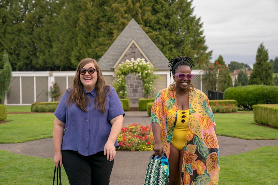 """Annie (Aidy Bryant) and Fran (Lolly Adefope) in """"Shrill."""""""