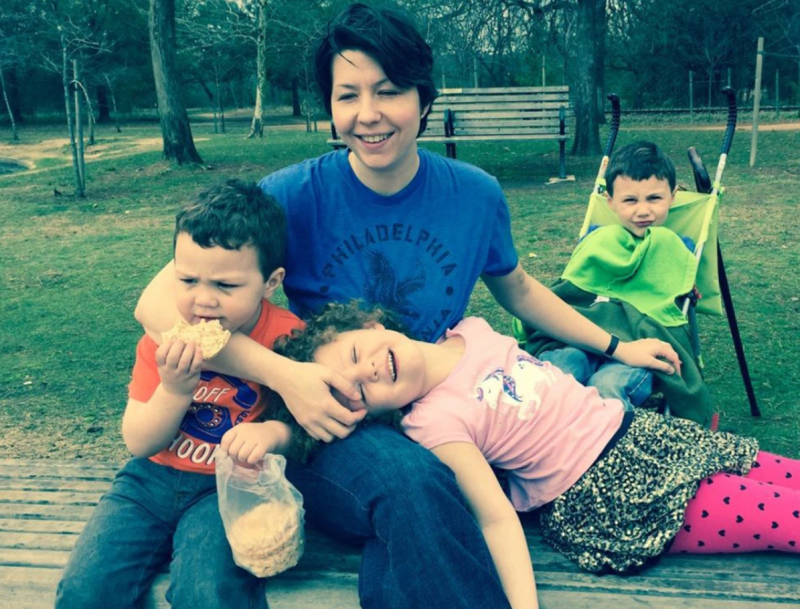 Mum pictured with kids she killed in Texas, US, before shooting herself in a murder-suicide.