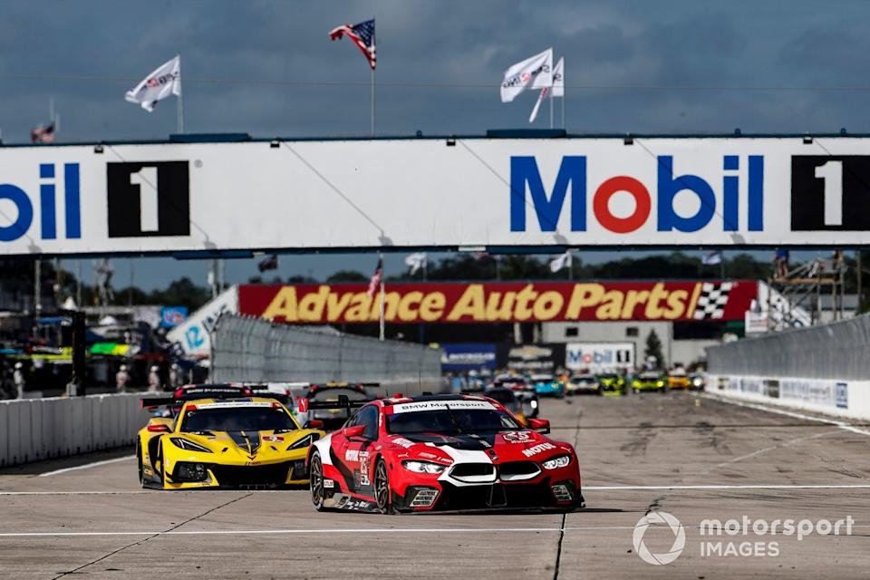 "#25 BMW Team RLL BMW M8 GTE, GTLM: Connor De Phillippi, Bruno Spengler, Colton Herta , #3 Corvette Racing Corvette C8.R, GTLM: Antonio Garcia, Jordan Taylor, Nicky Catsburg<span class=""copyright"">Michael L. Levitt LAT Photo USA</span>"