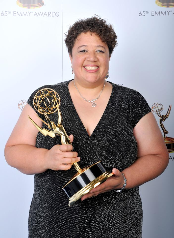 Kelley Dixon poses for a portrait at the 2013 Primetime Creative Arts Emmy Awards, on Sunday, September 15, 2013 at Nokia Theatre L.A. Live, in Los Angeles, Calif. (Photo by Vince Bucci/Invision for Academy of Television Arts & Sciences/AP Images)