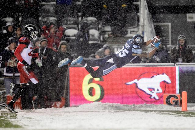 <p>The Stamps may have been the best team in the regular season,<br> but the Argonauts won when it mattered most. (Nathan Denette/CP) </p>
