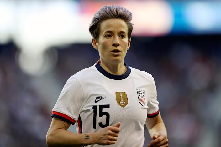 Megan Rapinoe of the USWNT was one of more than 500 female athletes to sign an amicus brief to the Supreme Court regarding the attempt by Mississippi to overturn Roe V. Wade  (AP)