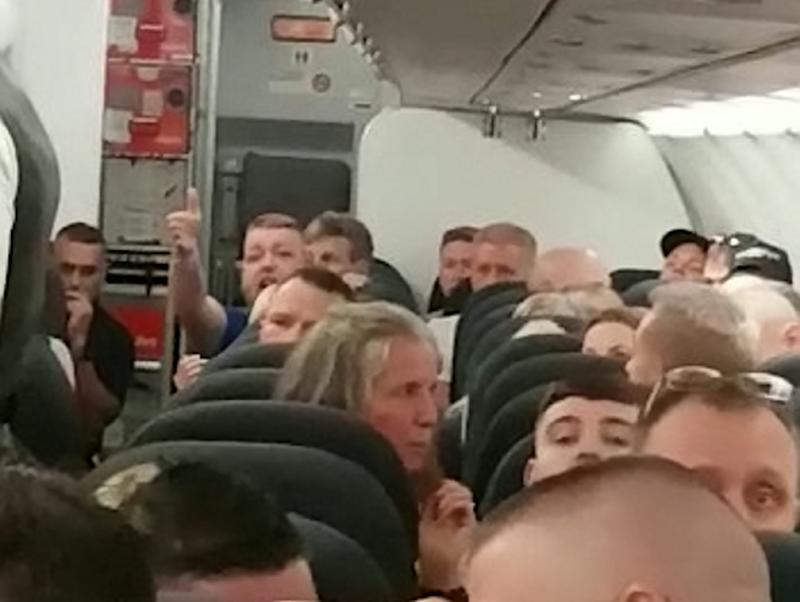Passengers claim a row between two groups of men on the flight from Manchester to Tenerife caused it to have to divert to Portugal. (Picture: SWNS)